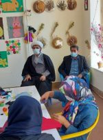 دیدار صمیمی امام جمعه، دادستان و دیگر مسئولین شهرستان چرام با معلولین مرکز توانبخشی حرفه آموزی دختران بالای ۱۴سال شکوفه های امید